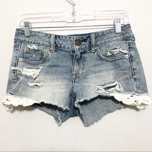 American Eagle Distressed Cutoff Jean Shorts